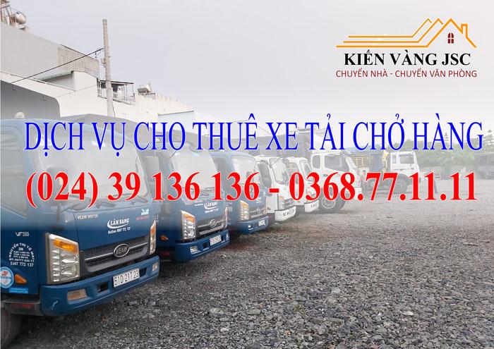 Dịch vụ cho thuê xe tải chở hàng tại Hà Nội giá rẻ