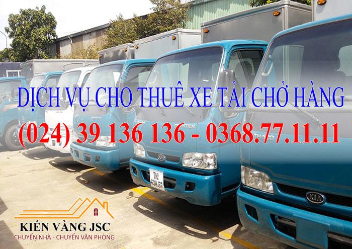 Dịch vụ cho thuê xe tải chở hàng tại Hà Nội